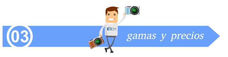 Gamas y precios de cámaras EVIL sin espejo