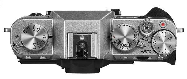 Fuji X-T10. Vista superior diales