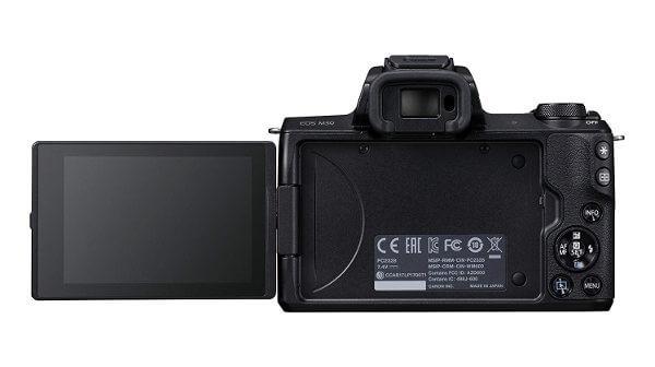 Cámara sin espejo Canon EOS M50 - Pantalla articulada