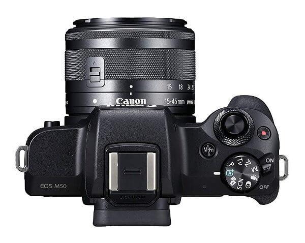 Cámara sin espejo Canon EOS M50 - Vista superior