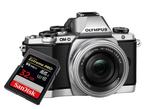 Tarjetas SD para Olympus OM-D E-M10