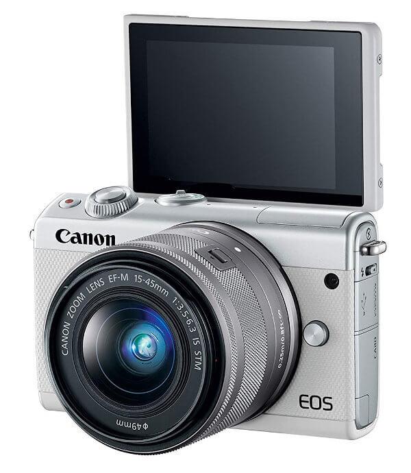 Canon EOS M100 pantalla abatible 180