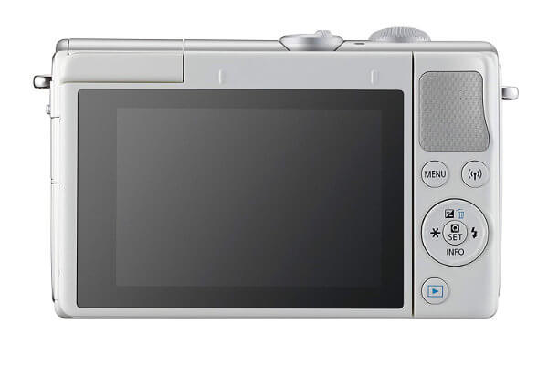 Canon EOS M100 vista posterior