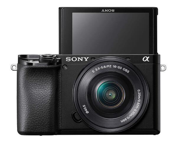 Cámara EVIL Sony a6100 - pantalla en modo selfie