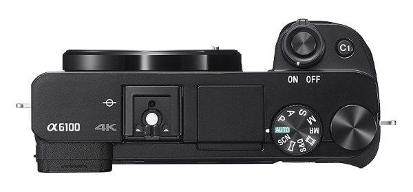 Cámara EVIL Sony a6100 - diales y controles parte superior