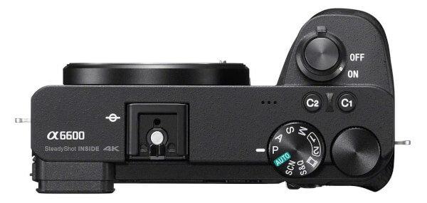 Cámara EVIL Sony a6600 - Vista superior con botonera
