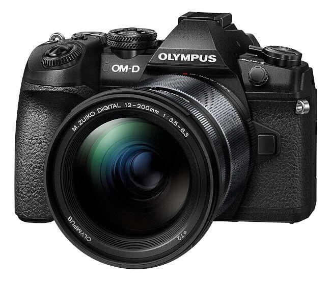 Olympus OMD EM1 mark II - Vista frontal objetivo