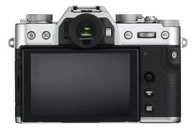Cámara Fuji X-T30 - pantalla y controles en la parte posterior