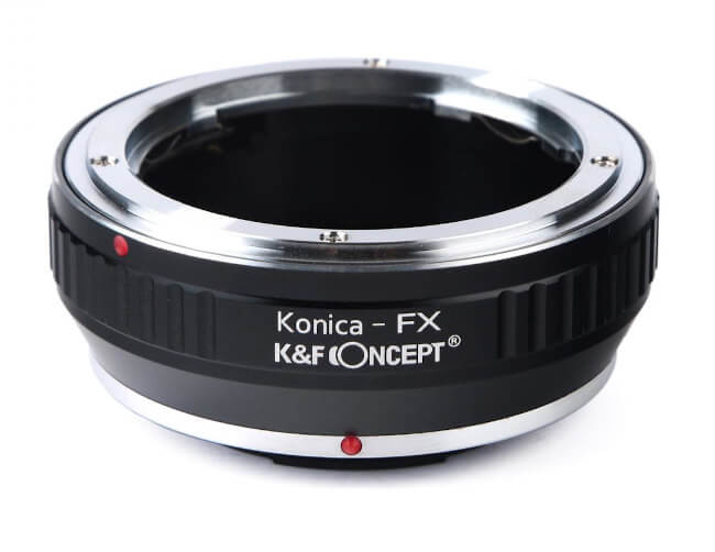 Adaptadores de objetivos Konica AR a cámaras digitales